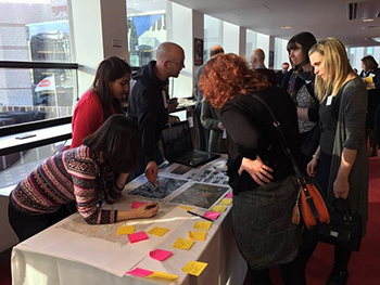 Planning students at RTPI summit