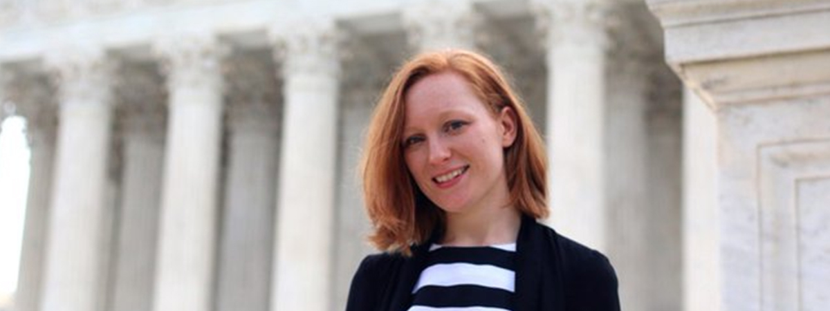 PhD student Amelia Shooter at the Library of Congress