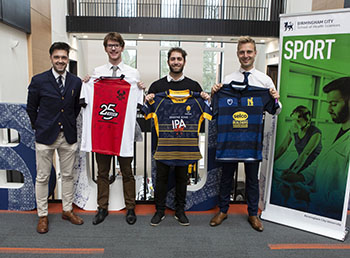University collaborates with West Midlands sports teams