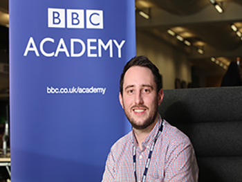 Birmingham City University student and Royal Television Society Technologist of the Year 2019 award winner Lawrence Card