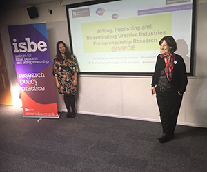 Charlotte Carey Presenting 2019 - Two women stood in front of an electronic whiteboard