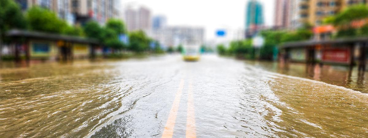 Flooding header