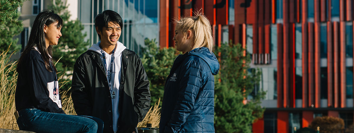 International Students in UK on campus