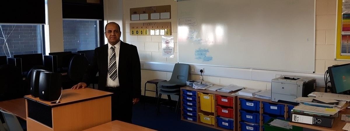 Mansur in classroom