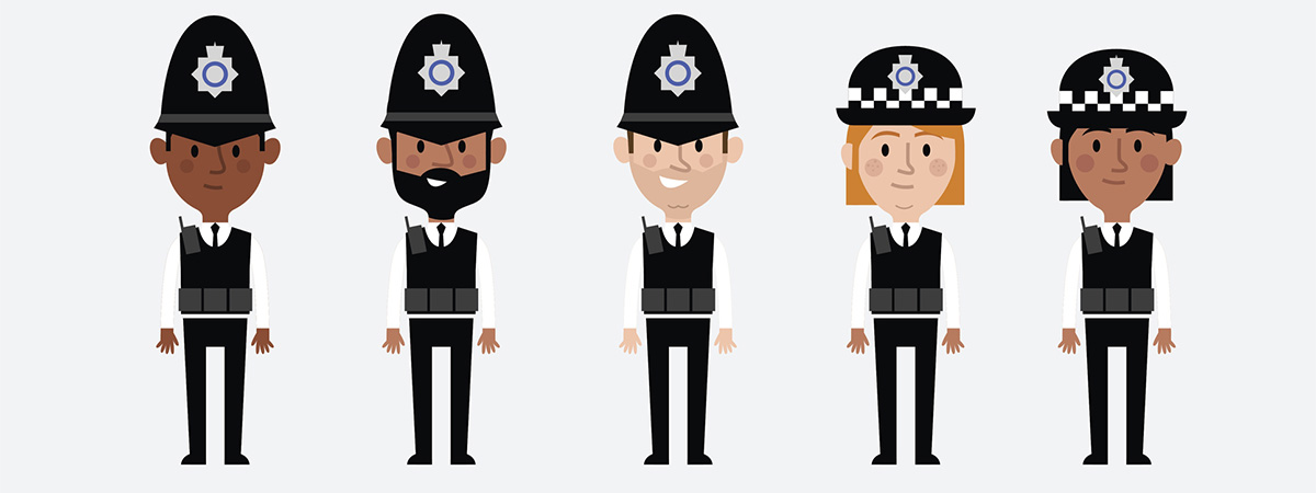 Policing Article 1200x450 - Cartoon police officers