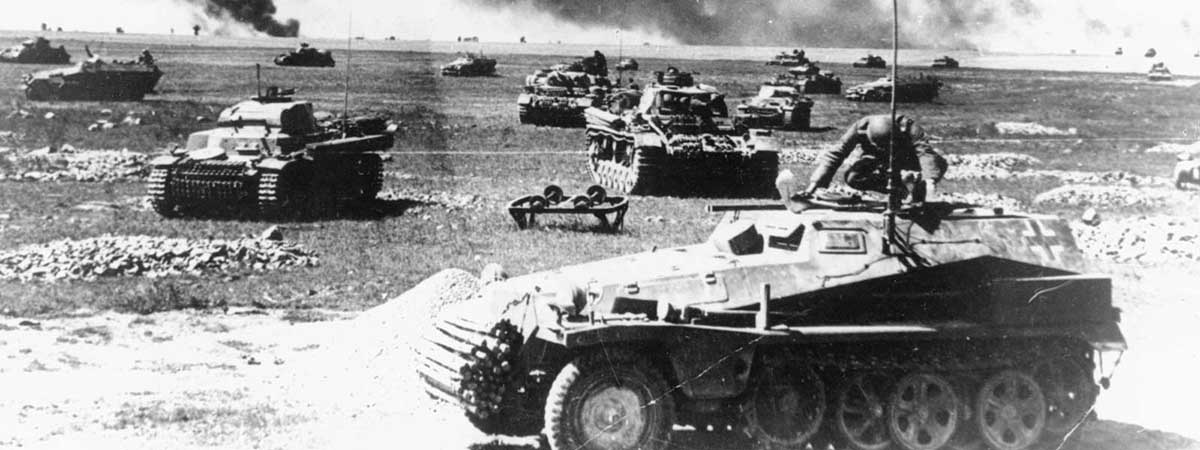 Small Margins 1200x450 - Tanks on a battlefield (black and white)