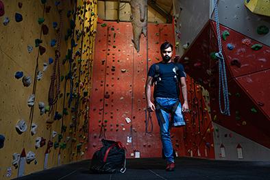 Adam Islam at Redpoint Climbing Centre Birmingham