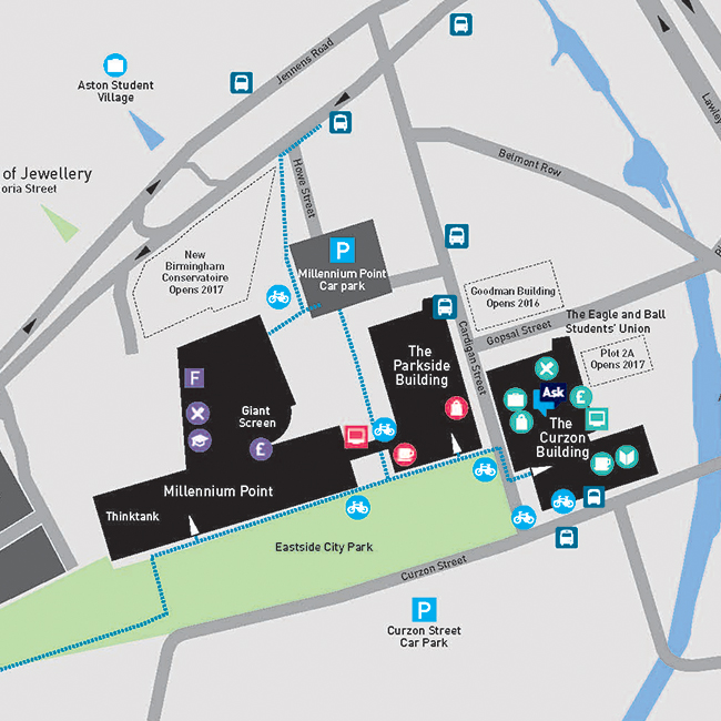 Map of City Centre Campus