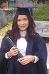 April Lee at graduation
