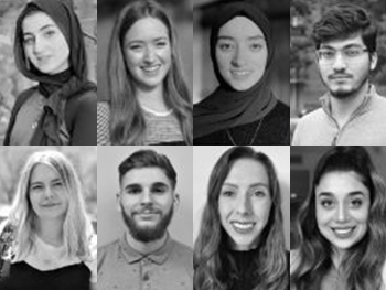 Headshots of eight BCU students chosen as Student Ambassadors
