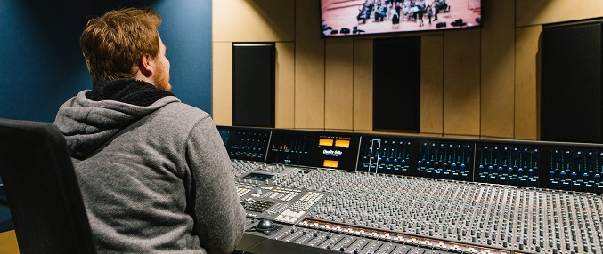 Concert Hall control room student