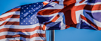 Centre for American Legal Studies BJALS Image 341x139 - American and Union Jack flags