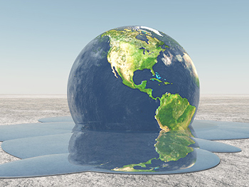 Centre for Brexit Studies Climate Change Image 350x263 - Globe melting