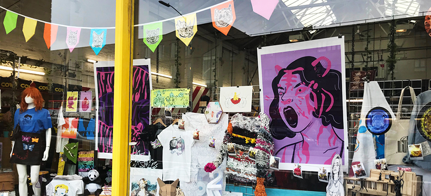 First-year BA (Hons) Illustration students created artwork for We are Cow store.