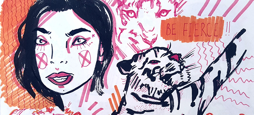 First-year BA (Hons) Illustration student Tegan Kelly's artwork created for We are Cow store.