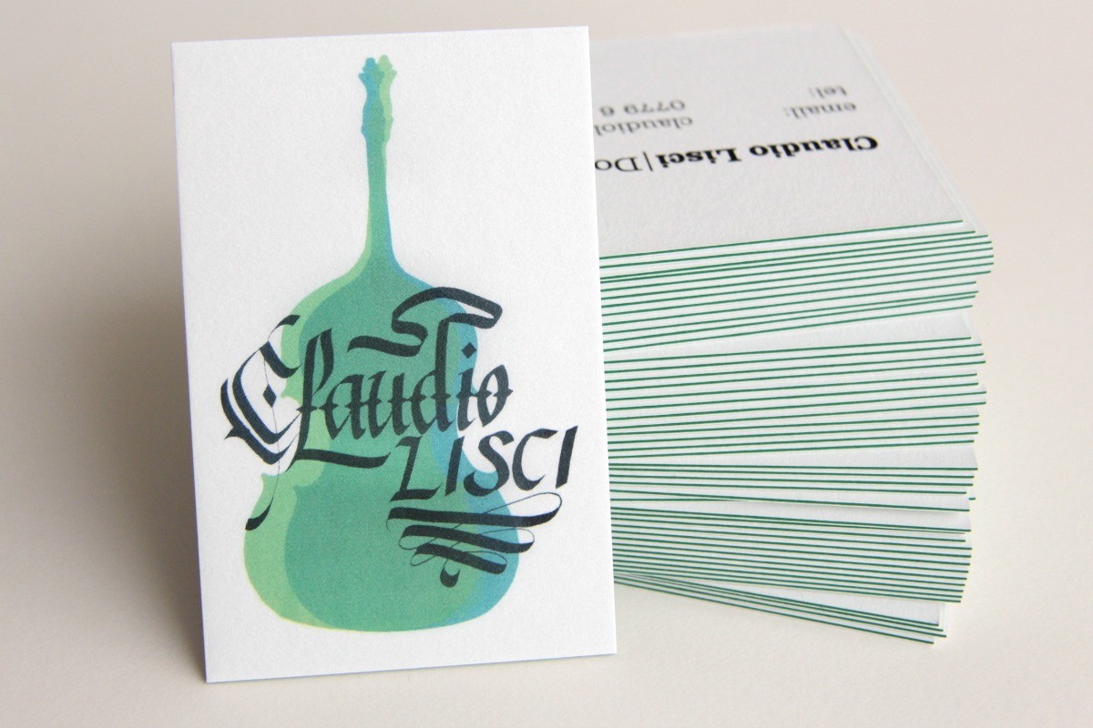 Double Bassist visual identity