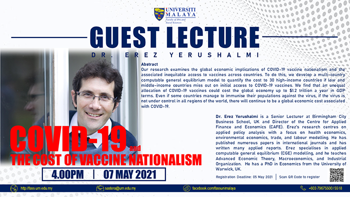 Erez Yerushalmi - Guest Lecture for Uni of Malaya