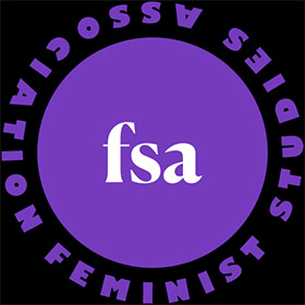 Logo for the Feminist Studies Association (FSA).