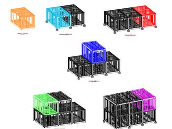 Diagram of modular house construction