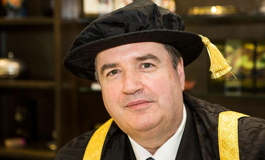Vice-Chancellor Professor Philip Plowden in academic robes