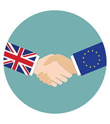 Centre for Brexit Studies - Work with us Flip Card Image 227x255 - UK and EU hands shaking