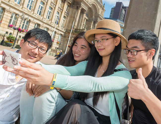Students taking selfie at the Summer School