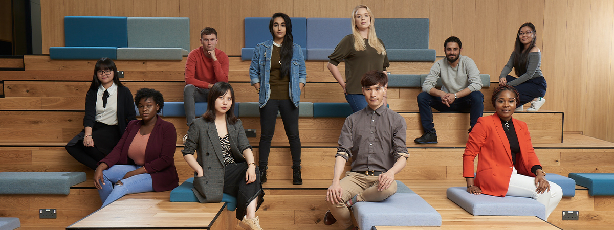 Picture of international students in a group