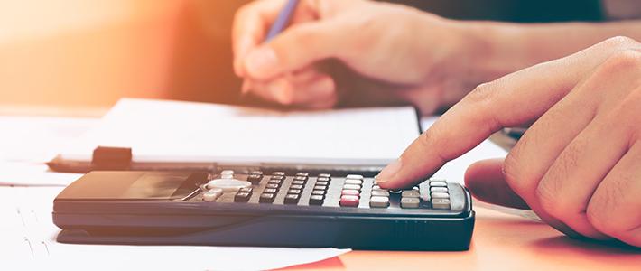 Student preparing financial evidence