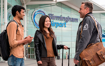 International students arrive at Birmingham Airport