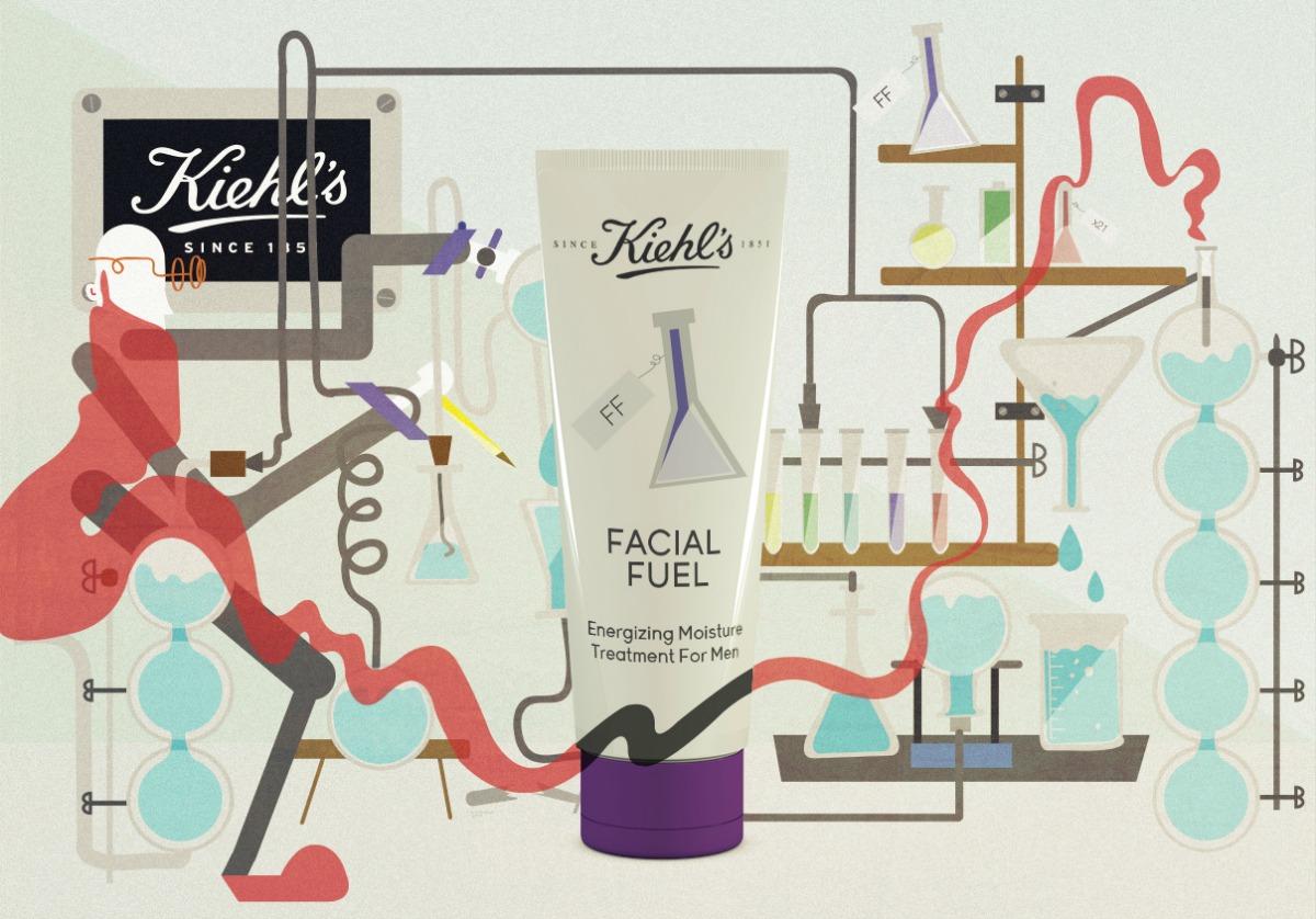 Kiehl's Facial Fuel Vector Illustration