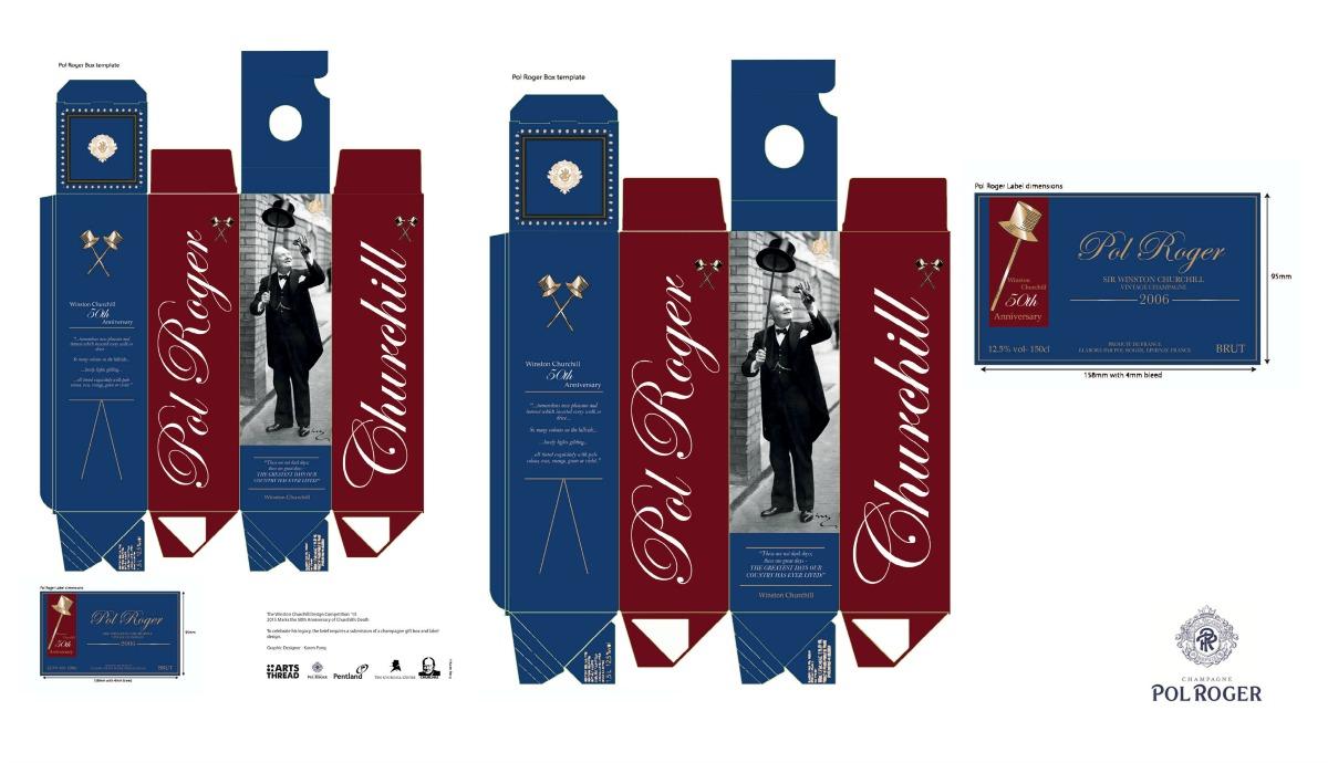 Churchill Bottle Packaging & Label Design