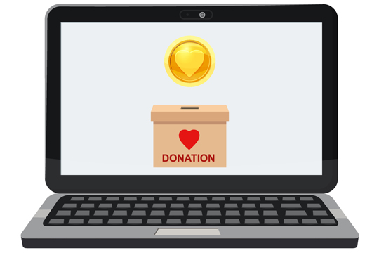 Laptop fundraising front page news