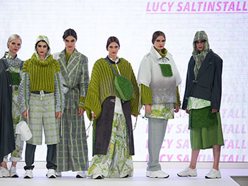 Fashion Student Turns Heads With Grassy Garments School Of Fashion And Textiles Birmingham City University