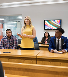 Law School - Homepage - Facilities - Magistrates Court - Students in the magistrates court
