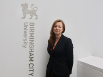 Photo of Dr Michaela Kendall at Birmingham City University