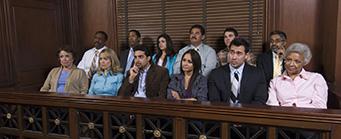 CLSP Mock Juror Studies Image 341x139 - Juror in a court room