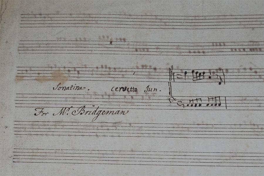 Near empty sheet music
