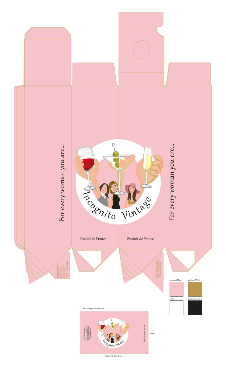 A female-targeted wine-based drink