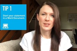 Personal statement tips claire c