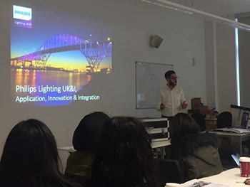 Philips Lighting live industry project with Product and Furniture Design students- 2018