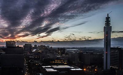 Skyline view of Birmingham city centre