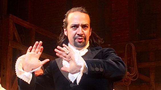 Lin-Manuel Miranda in Hamilton