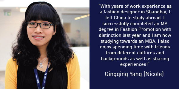 Qingqing Yang (Nicole) International Student Buddy Quote 600x300