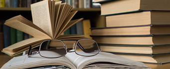 Centre for Human Rights Research Image 341x139 - Books and glasses