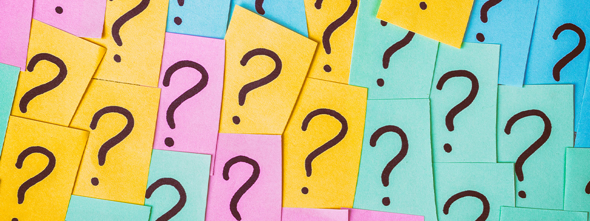 Question marks on post-its