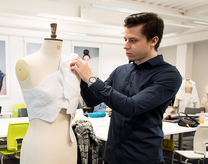 Fashion Design student Robert Bizbac