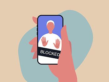 Social media account blocked on phone