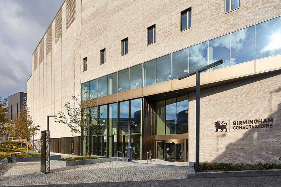 South entrance of Royal Birmingham Conservatoire