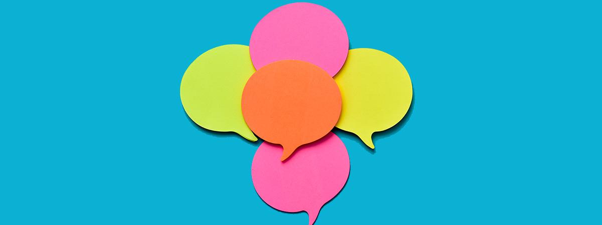 Speech bubble postits