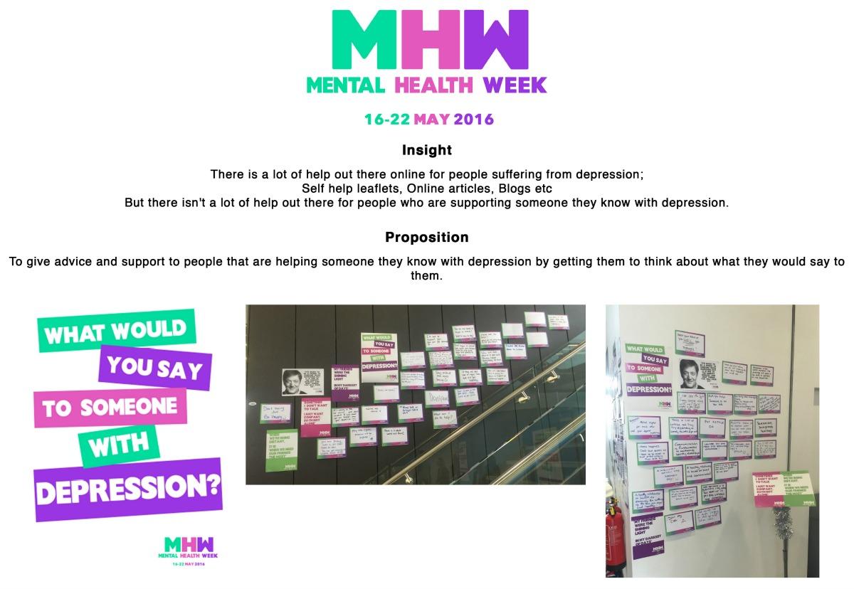 Mental Health Week Campaign